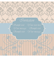 Vintage Invitation with floral ornaments vector image vector image