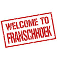 welcome to franschhoek stamp vector image vector image