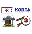 traditional korean temple vector image