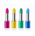 Lipstick Color Set vector image