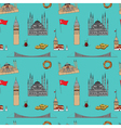 Colorful Istanbul tourist seamless pattern vector image