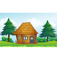 A native house in the hill vector image vector image