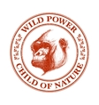 Ape head logo in red and white vector image vector image