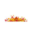 autumn background with space for text banner with vector image vector image