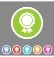 Award ribbon badge icon flat web sign symbol logo vector image