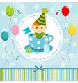 baby boy in cup vector image vector image