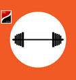 barbell white circle vector image
