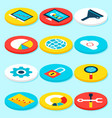 Big data isometric icons