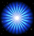 blue light burst vector image vector image