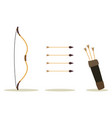 bow arrow and case vector image vector image
