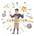 carpentry round concept vector image