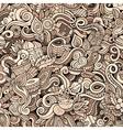 Cartoon cute doodles hand drawn Indian culture vector image vector image