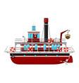 cartoon ferryboat vector image vector image