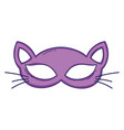 cat mask cartoon vector image
