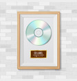 cd disc award best seller musical trophy vector image vector image