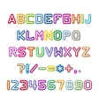 Colorful alphabet with shadow vector image