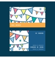 colorful doodle bunting flags horizontal stripe vector image