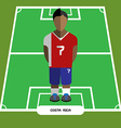 Computer game Costa Rica Football club player vector image vector image