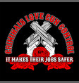 cross guncriminals love gun control hand vector image