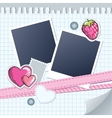 cute frame for photos vector image vector image