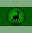 deer buck on full moon badge vector image