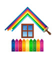 design for painting house vector image vector image