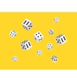 dices background for casino Sharp edges vector image