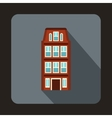 Dutch houses icon flat style vector image vector image