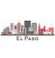 el paso texas skyline with gray buildings vector image vector image
