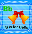 flashcard letter b is for bells vector image vector image