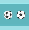 football ball icon flat design vector image