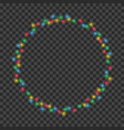 frame made christmas light garland color vector image