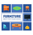 furniture banner template best for your home vector image vector image