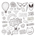 Girly elements with alien speech bubbles vector image vector image