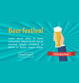 hand holding beer glass vector image vector image
