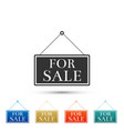 hanging sign with text for sale icon isolated vector image vector image