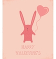 happy valentines greeting card vector image vector image