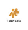 honey and bee logo template vector image