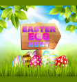 hunting eggs easter composition vector image vector image
