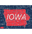 iowa state detailed editable map vector image vector image