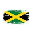 jamaican flag brush grunge background vector image vector image