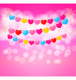 love heart bunting background vector image