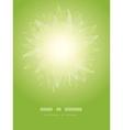 Magical green leaves sunburst vertical temaplate vector image
