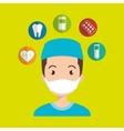 man nurse medical doctor vector image