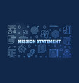 mission statement blue outline banner vector image