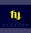 modern professional logo monogram fy in business vector image