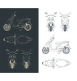 moped drawings vector image