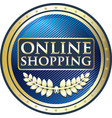 online shopping label vector image vector image