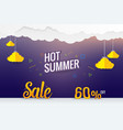 paper art hot summer sale template design vector image vector image