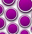 Paper purple bubbles vector image